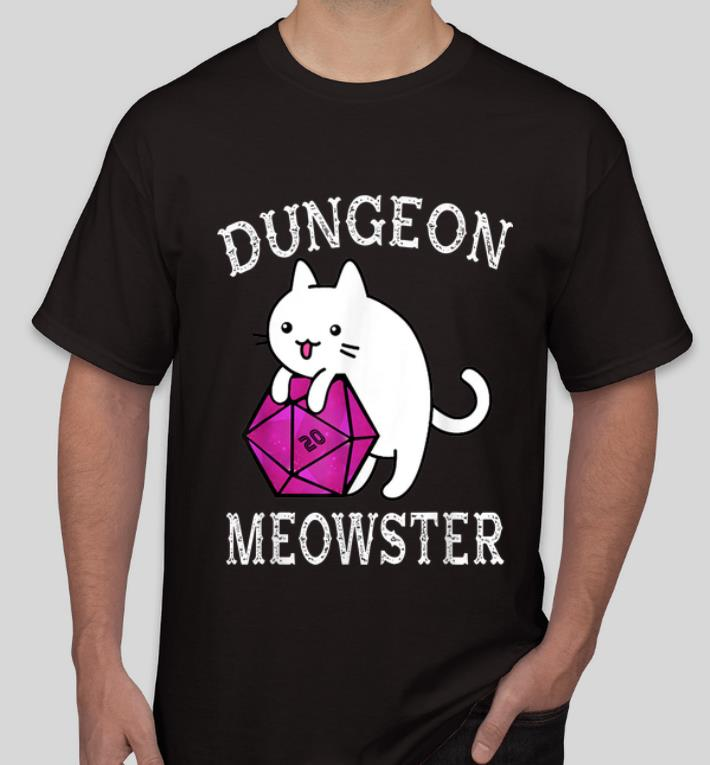 Awesome Dungeon Meowster Nerdy Gamer D20 RPG Cat Lover shirt 4 - Awesome Dungeon Meowster Nerdy Gamer D20 RPG Cat Lover shirt