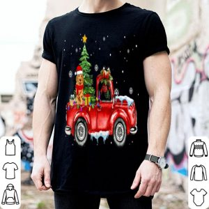 Awesome Labrador Retriever Dog Christmas Rides Red Truck Cute Gift sweater