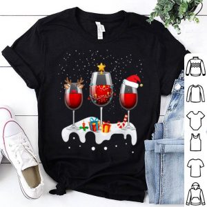 Awesome Three Glass Of Red Wine Funny Drinker Christmas Gifts sweater