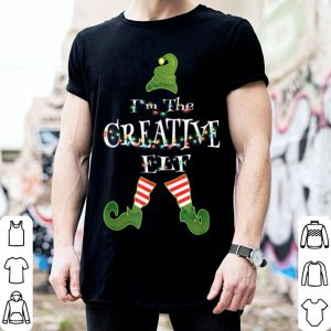 Beautiful I'm The Creative Elf Christmas Light Matching Costume Gifts sweater
