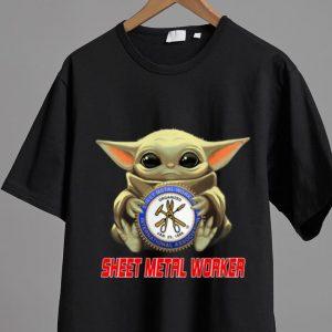 Great Star Wars Baby Yoda Hug Sheet Metal Worker shirt