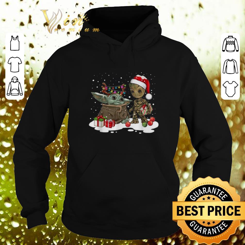 Hot Baby Yoda reindeer and Baby Groot santa Christmas shirt 4 - Hot Baby Yoda reindeer and Baby Groot santa Christmas shirt