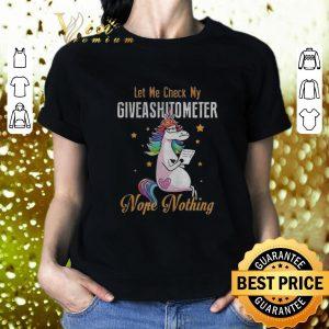 Hot LGBT Unicorn let me check my giveashitometer nope nothing shirt