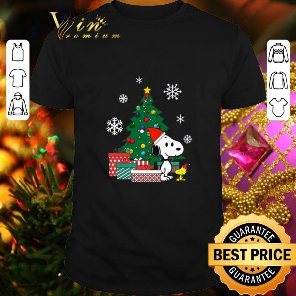 Hot Snoopy and Woodstock Christmas tree shirt