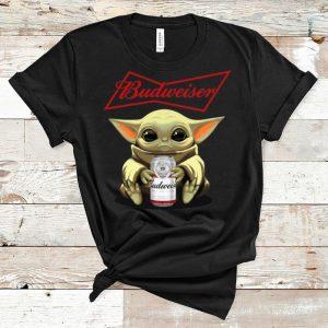 Nice Star Wars Baby Yoda Hug Budweiser shirt