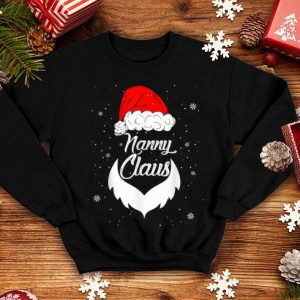 Official Funny Christmas Nanny Santa Hat Matching Family Xmas Gifts sweater