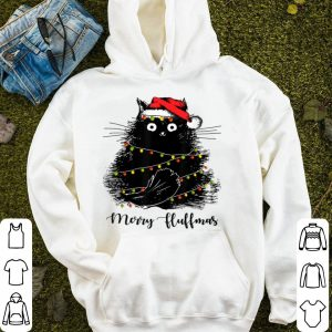 Official Merry Fluffmas Cats With Santa Hat Merry Christmas Gifts sweater
