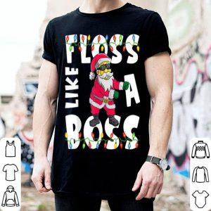 Official Santa Floss Like A Boss Funny Xmas Gift Kids Boys Flossing sweater