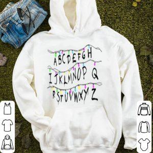 Original Alphabet Christmas Strange xmas abc lights gift tee sweater