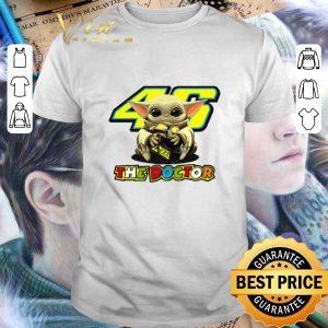 Original Baby Yoda hug 46 The Doctor Valentino Rossi Star Wars shirt
