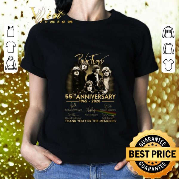 Original Pink Floyd 55th anniversary 1965 2020 signatures shirt