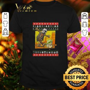 Original Star Wars Jango Fett and Baby Yoda ugly Christmas sweater