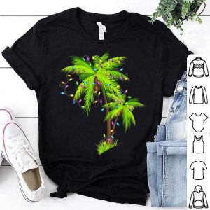 Palm Tree Beach Funny Tropical Xmas Gift Christmas Lights sweater