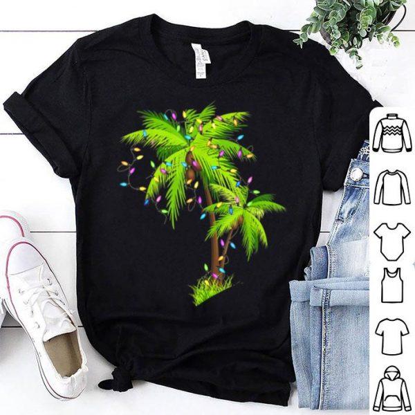 Palm Tree Beach Funny Tropical Xmas Gift Christmas Lights sweater