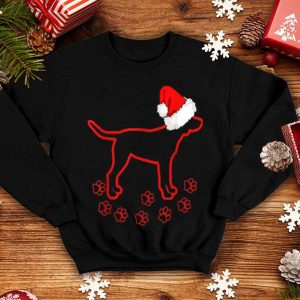 Premium Lab Dog Footprint Labrador Christmas Santa Claus Hat sweater