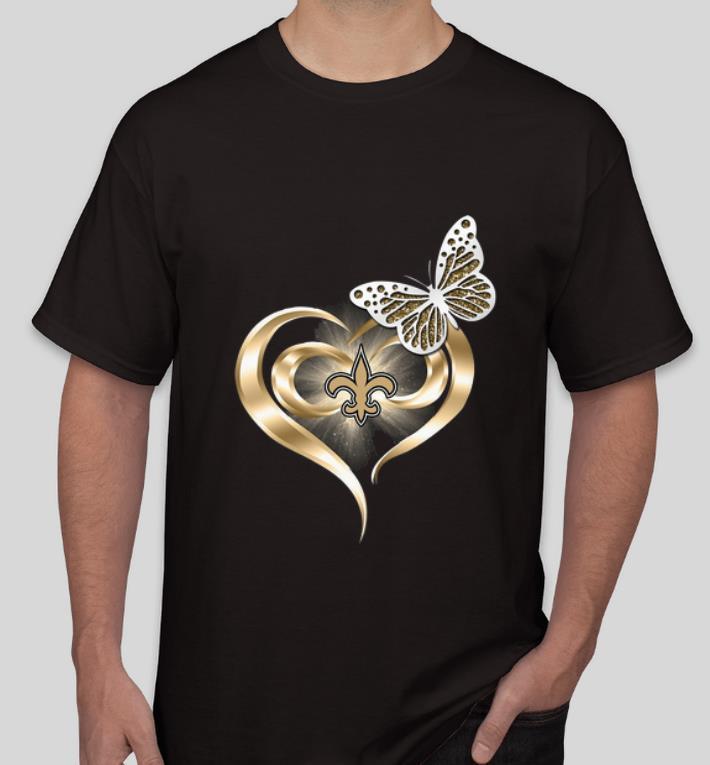 Pretty Butterfly Heart Love New Orleans Saints shirt 4 - Pretty Butterfly Heart Love New Orleans Saints shirt