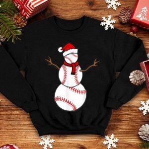 Pretty Funny Christmas Baseball Balls Santa Snowman sweater