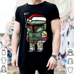 Star Wars Boba Fett Santa Hat Cartoon Christmas sweater