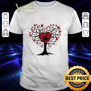 Top Asl Heart Tree Sign Language I Love You shirt