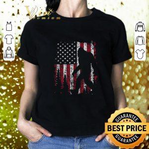 Top Bigfoot American flag sunset shirt
