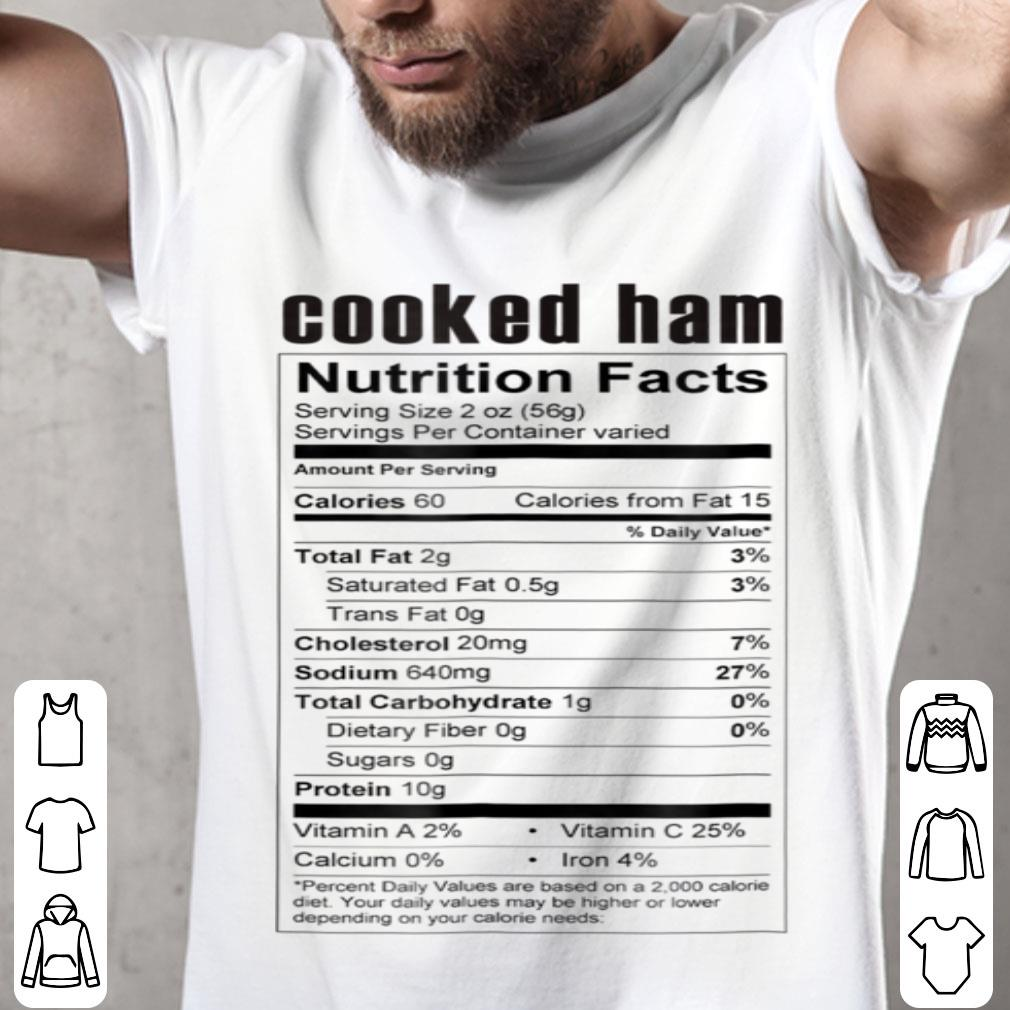 Top Cooked Ham Nutrition Label Matching Christmas Costume