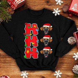Top Ho-Ho-Ho Santa Great Dane Christmas Gift sweater