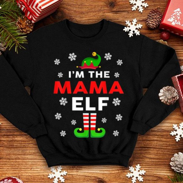 Top I am The MAMA Elf Christmas Gift Funny Family Group matching sweater