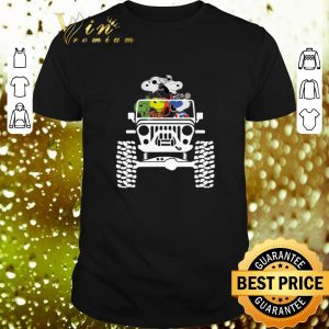 Top Snoopy in the Jeep Marvel Avengers Endgame shirt