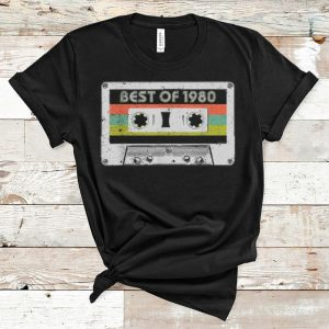 Awesome Best Of 1980 40th Birthday Vintage Cassette shirt