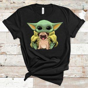 Hot Star Wars Baby Yoda Hug Pug Dog Lovers shirt