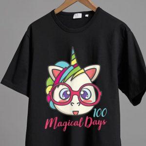 Hot Unicorn 100 Magical Days Of School shirt