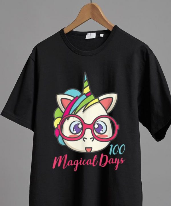Hot Unicorn 100 Magical Days Of School shirt
