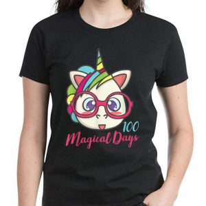Hot Unicorn 100 Magical Days Of School shirt 2