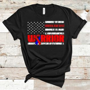 Official Congenital Heart Defect Warrior Awareness USA Flag shirt