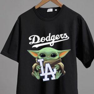 Original Star Wars Baby Yoda Hug Los Angeles Dodgers shirt