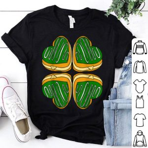 Awesome Four Leaf Clover Donut St Patricks Day Funny Irish shirt