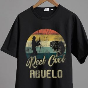 Awesome Vintage Reel Cool Abuelo Fishing Father's Day shirt
