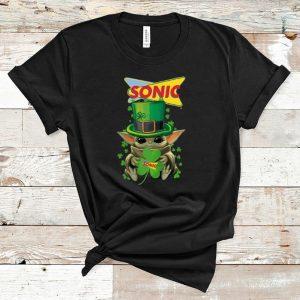 Great Star Wars Baby Yoda Sonic Shamrock St. Patrick's Day shirt
