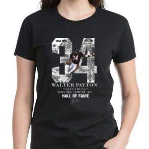 Hot 34 Walter Payton Sweetness Super Bowl Champion Hall Of Fame Signature shirt 2
