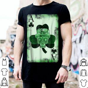 Original Skull Ace Card Irish luck St. Patrick's Day Graphic shirt