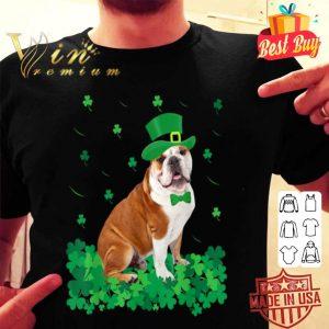 St Patrick's Day English Bulldog Shamrock Pet Dog Lover shirt