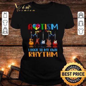 Top Autism Awareness i rock my own rhythm shirt
