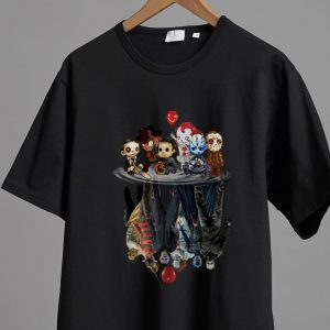 Top Chibi Horror Characters Horror Movie Characters Reflection shirt