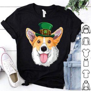 Top Corgi St Patricks Day Boys Men Leprechaun Dog Lover Gift shirt
