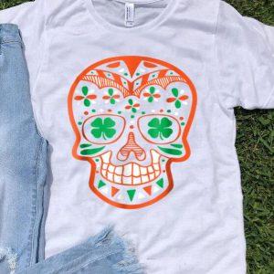 Top St. Patrick's Day Sugar Skull Green Clover Eyes 2018 shirt