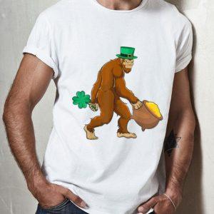 Top St Patricks Day Boys Kids Shamrock Leprechaun Bigfoot shirt