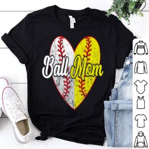 Awesome Ball Mom Softball Baseball Gifts For Girls Women Mothers Day shirt