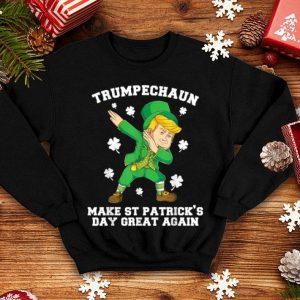 Awesome Dabbing Trumpechaun Make St Patrick's Day Great Again shirt