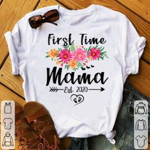 Awesome First Time Mama Est 2020 Mother's Day New Mama To Be shirt