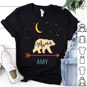 Beautiful Amy Name Gift Personalized Retro Mama Bear shirt